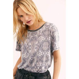 Free People Tourist Tee in Black Combo Snake